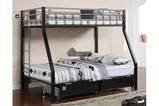 Clifton IV Twin / Full Size Metal Finish Bunk Bed from Furniture of America