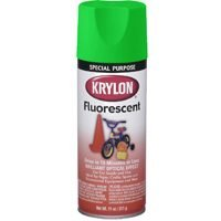 Krylon K03106 Fluorescent Spray Paint, 11 Oz, Green