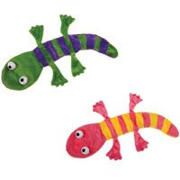 Grriggles Unstuffy Lizard Pet Toy, Green