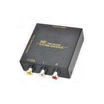 AV to HDMI Audio Scaler / HD Video Converter w/ Mini USB / RCA - Black Black