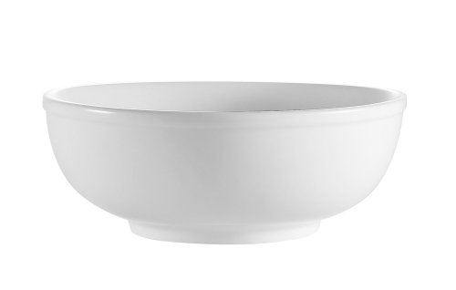 CAC China MB-7 7-1/2-Inch Clinton Porcelain Menudo Bowl, 25-Ounce, Super White, Box of 24