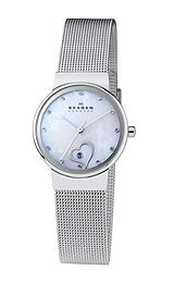 Skagen Three-Hand with Glitz Steel Mesh Women's watch #355SSSH