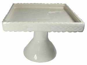 Kitchen Basics Cake Plate - Footed - Square