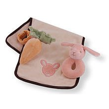 Miyim Organic Baby Bunny Plush Toy Gift Set front-981462