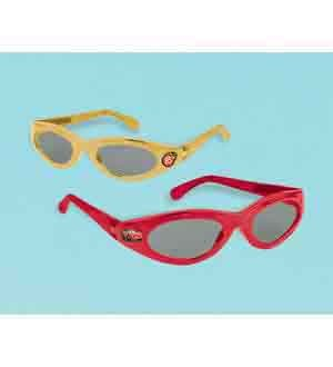 Amscan Dashing Cars Glasses (6 Piece), Yellow/Red, 4 3/4 x 1 1/4""