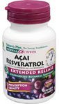 21wb8AZoLaL. SL160  Natures Plus, Herbal Actives, Acai Resveratrol, Extended Release, 30 Tablets