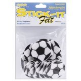 Stick It Felt Shapes, Soccer Balls 24/Pkg - 1