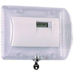Safety Technology International Thermostat Protector Clear With Key Lock 1/8 Inch Thick