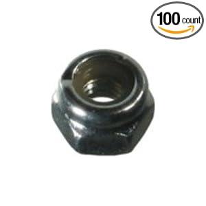 10-24 Stainless Steel Nylon Insert Lock Nut (100 count