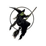 Body Art Witch Broom Glow N Dark Temporary Tattoo 15x2