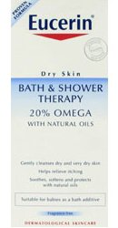 Eucerin Dry Skin Bath & Shower Therapy 20% Omega with Natural Oils - 200ml