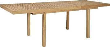 Habitat - Tiek Table de jardin à rallonge en teck - Naturel - fr-shop