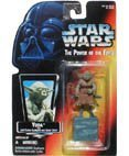 Star Wars Power of the Force Yoda Red Card Action Figure