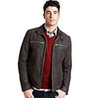 North Coast Suede Leather Biker Jacket