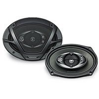 Pair Of New Kenwood Kfc-6993Ps 1000 Watts Combined (500 Each) Powerful Five-Way Car Audio Speakers With Sound Image Enhancer