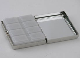 8 DAYS A WEEK PILL BOX - 8 DAYS A WEEK PILL BOX, NICKEL PLATED.
