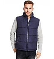 Funnel Neck Quilted Gilet