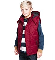 Hooded & Quilted Padded Gilet