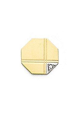 14k Gold Tie Tac with Corner Diamond-89095