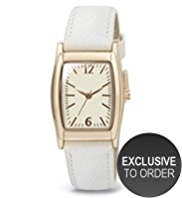 M&S Collection Square Face Tonneau Strap Watch