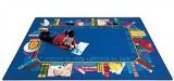 "Joy Carpets Kid Essentials Language & Literacy Read to Succeed Rug, Multicolored, 7'8"" x 10'9"""