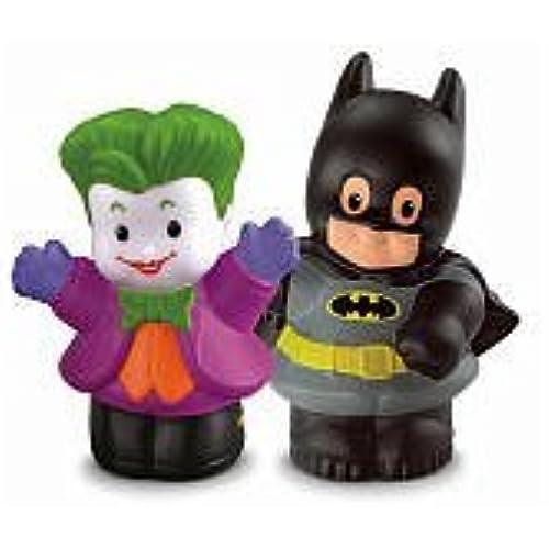 장난감 Fisher-Price 휘셔 프라이스 Little People DC Super Friends  후렌즈  Batman 배트맨 & The Joker Figure 피규어 Pack [병행수입품]-