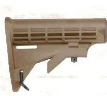 Ultimate Arms Gear Desert Tan Model 4/15 16 .223 5.56 Carbine Rifle Commercial Stock Buttstock With Pivoting Sling Swivel