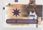 Chris Webber Sacramento Kings (Basketball Card) 2003-04 Upper Deck MVP MVP Materials... by Upper Deck MVP