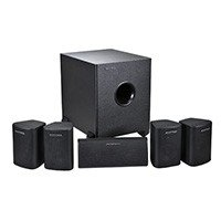 5.1 Channel Home Theater Satellite Speakers & Subwoofer - Black [Electronics]