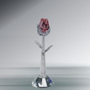 Crystal Florida 1905-SP Pink Rosebud with Stand