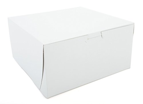 Southern Champion Tray 0941 Premium Clay-Coated Kraft Paperboard White Non-Window Lock Corner Bakery Box, 8