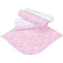 Gerber 5 Pack Hearts Receiving Blanket ~ Girls