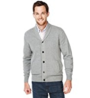 XS Blue Harbour Pure Cotton Shawl Collar Cardigan
