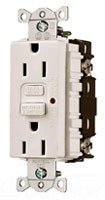 Hubbell Wiring 606196 Gfci 15A Comm Led White