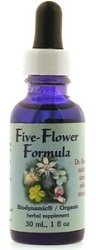 Flower Essence Services (FES) - Five-Flower Formula - Healingherbs Flower Essences of Dr. Bach 1 oz