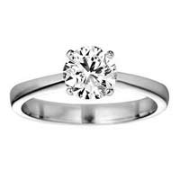 1/2 Carat G/SI1 Round Brilliant Certified Diamond Solitaire Engagement Ring in 18ct Solid White Gold