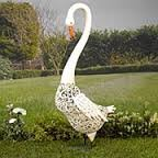 Smart Solar Metal Silhouette Swan Light White & Colour LED Light from Smart Solar