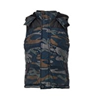 Hooded & Padded Camouflage Gilet