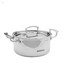 Bergner Tri Ply Stainless Steel Cooking Pot with Lid 3.1 Litre