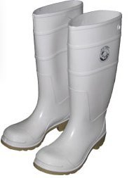 joy fish commercial grade fishing rain boots white