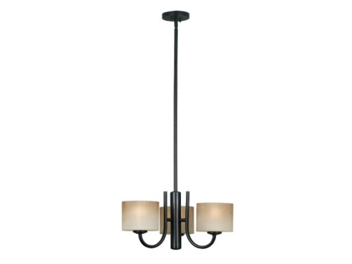 Unique  Oil Rubbed Bronze Kenroy Home ORB Matrielle Three Light Convertible Chandelier With Inch Glass Shades