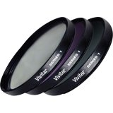 New - Vivitar Fk3-55 Filter Kit - Ultraviolet, Polarizer, Color Correction Filter - Viv-Fk3-55