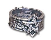 Celtic Theurgy Ring Size T, US 9.5 by Alchemy Gothic, England