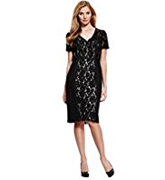 M&S Collection Floral Lace Panelled Dress