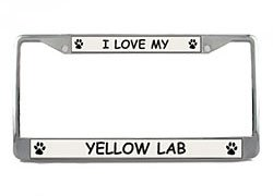 Yellow Lab License Plate Frame (Chrome) 5 Year Warranty (Lab License Plate Frame compare prices)