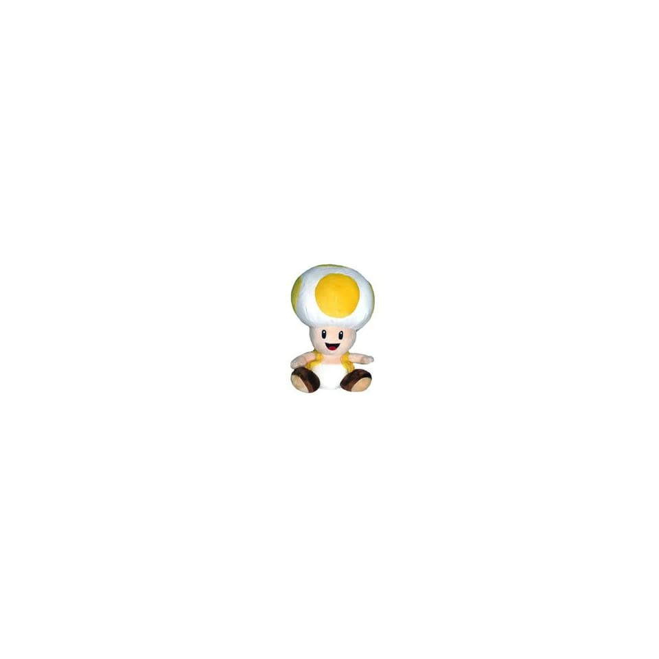 Super Mario Bros. Wii Plush   Yellow Toad Toys & Games