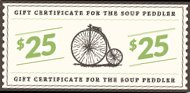 The Soup Peddler Gift Card ($25) front-1060870