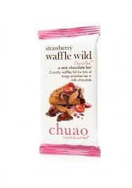 Chuao Mini Chocolate Bar 0.39 Oz. - Pack of 10 (Waffle Wild Strawberry)