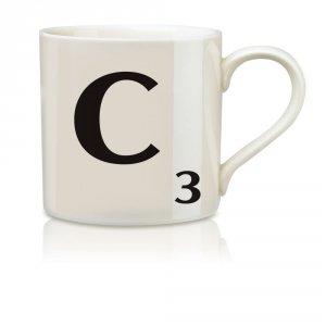 Imagen de Salvaje y Wolf Ltd Scrabble Alfabeto Taza - C * Harsboro taza de café Bebidas SCR003