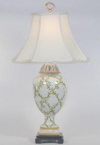 Bradburn Gallery Floral Trellis Porcelain Table Lamp